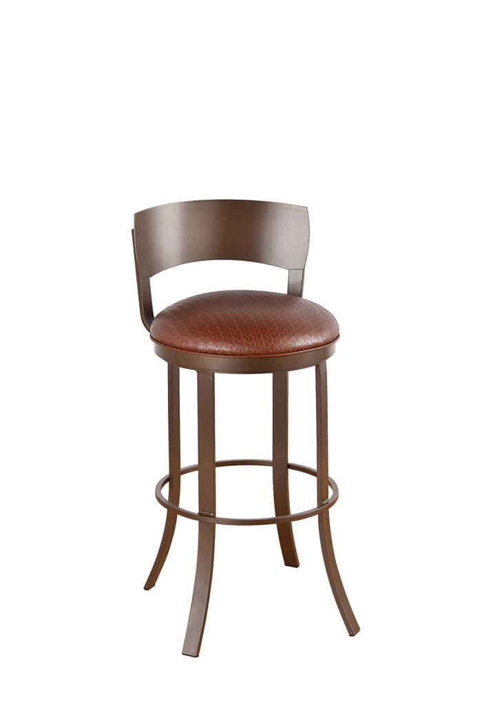 Callee Bailey Swivel Bar Stool w Metal Back Modern  : callee bailey metal back swivel barstool from barstoolcomforts.com size 700 x 1056 jpeg 23kB