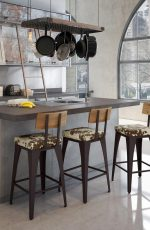 Callee Burnet Wide Swivel Stool For Traditional Kitchens