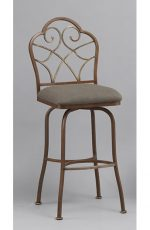 Anderson Swivel Bar Stool with Seat Cushion and Elegant Back Design