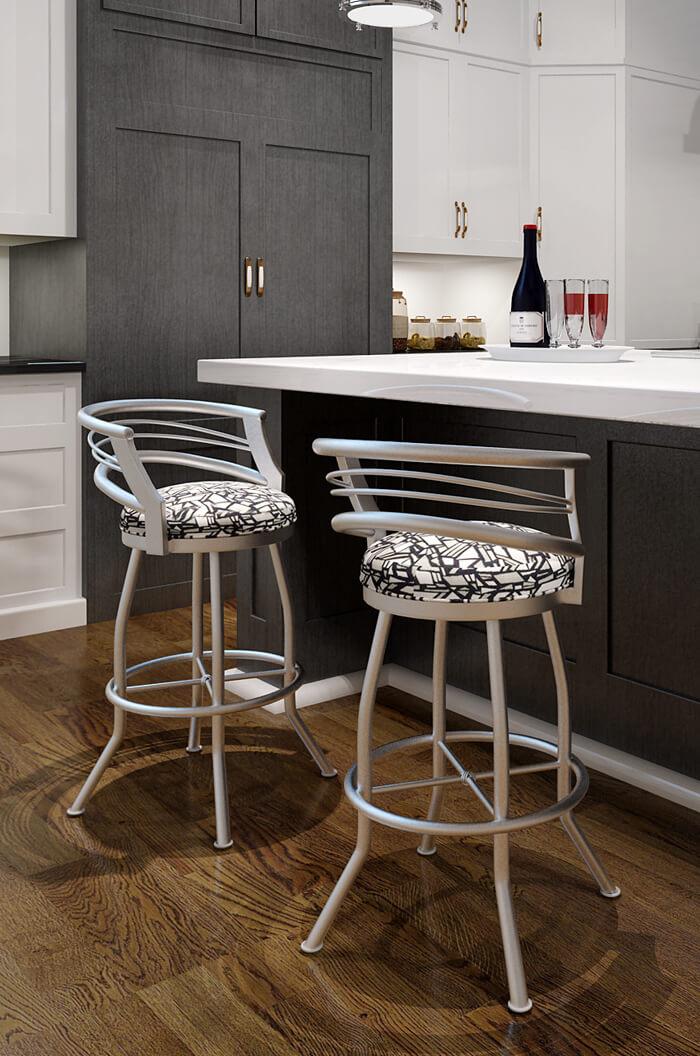 callee barrel swivel stool w low back modern  free