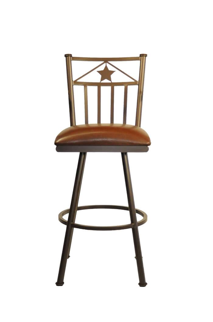 Callee Lonestar Swivel Stool Western Style Barstool