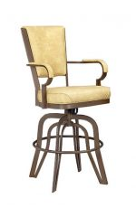 Lisa Furniture's #2545 Rocking Tilt Swivel Barstool with Arms
