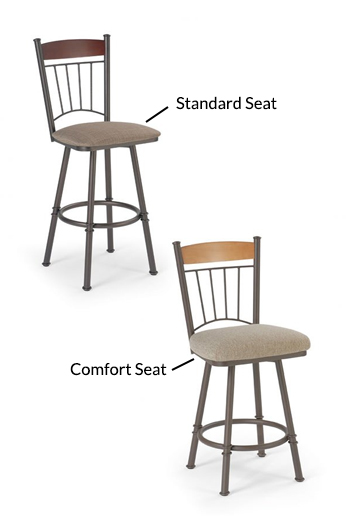 Buy Trica S Allan Swivel Counter Stool W High Back Free