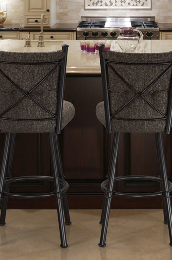 Trica Arthur Swivel Stool Fabric Vinyl Or Leather Free