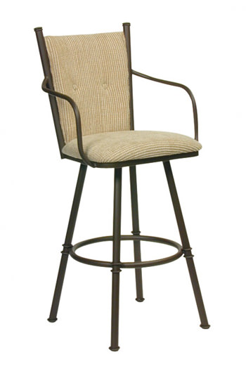 Trica Arthur Swivel Counter Stool W Arms In Fabric Or Leather