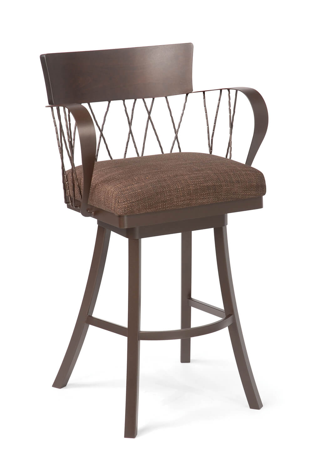 Bambusa Wide Swivel Counter Or Bar Stool W Arms Free