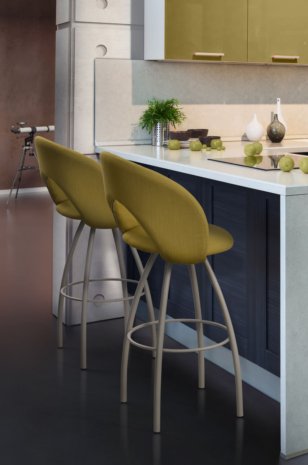 Buy Trica S Biscotti Modern Italian Swivel Bar Stool
