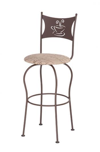 Trica Cafe Swivel Bar Stool W Coffee Or Tea Cup Design