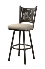 Trica Creation Collection Swivel Stool with Wine Back Design
