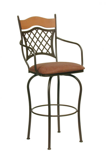 Trica S Raphael Swivel Counter Or Bar Stool W Arms