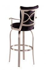Trica Tuscany 2 Swivel Stool with Leather Upholstered Back and Seat