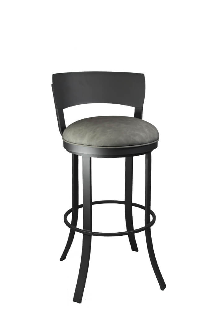 Callee Bailey Swivel Bar Stool W Metal Back Modern