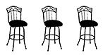 3 Barstools with Backless, Armless