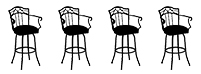 4 Barstools with Backs