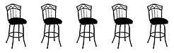 5 Armless Barstools