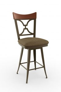 Bar stool with padded cushion seat