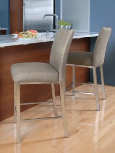 Brushed Steel Stools to match Stainless Steel Appliances