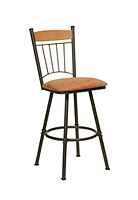 Comfortable bar stool with a back