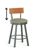 Comfortable bar stools with short backs