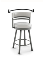 Comfortable curved back bar stools