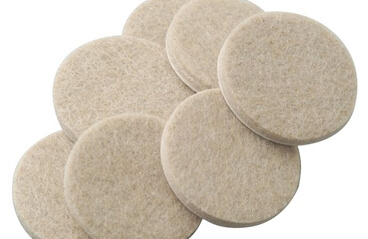 Felt pads for bar stools