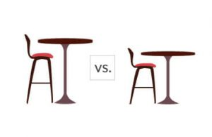 Bar stools vs counter stools
