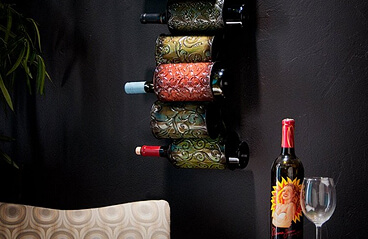 Display wine on walls