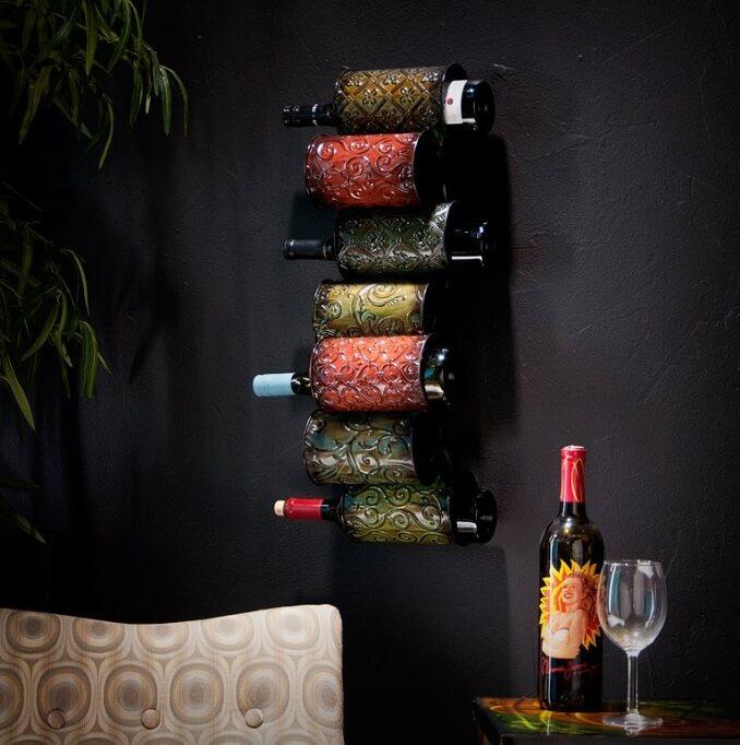 Display wine on walls