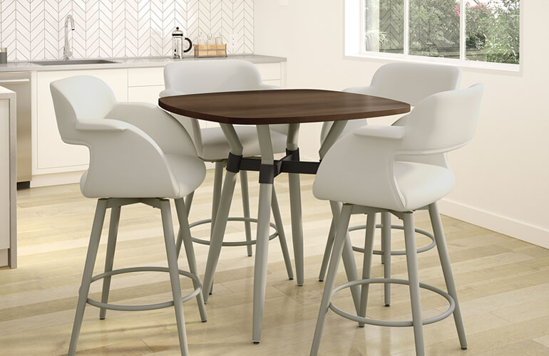 Bar Stools in Kitchen Dining Space
