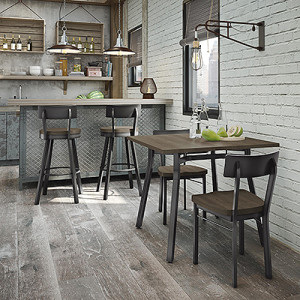 Mixing barstools and chairs in one kitchen