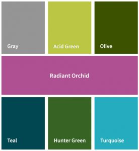 Radiant Orchid Complimentary Colors