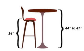 spectator height bar stools to match any interior