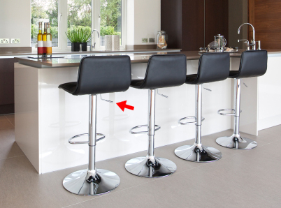 Lever on Adjustable Height Stools