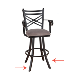 Bar Stools for Toddlers Angled Legs have more Balance