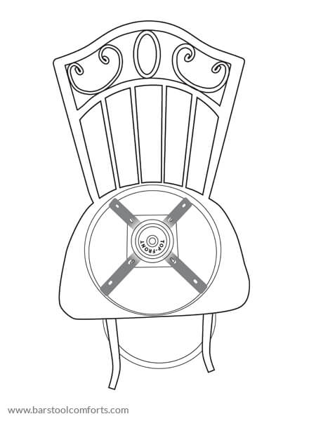 Align the swivel plate correctly on barstool