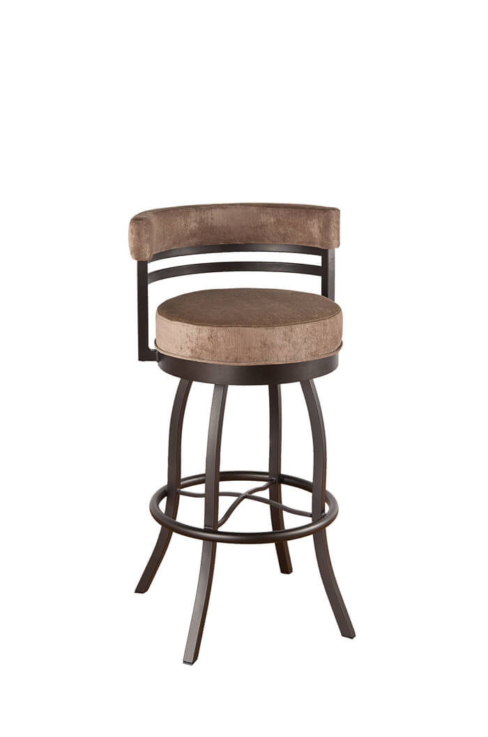 Pleasing Americana Swivel Stool With Low Back Andrewgaddart Wooden Chair Designs For Living Room Andrewgaddartcom
