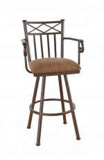 Callee Arcadia Swivel Stool with Arms and Tall Back