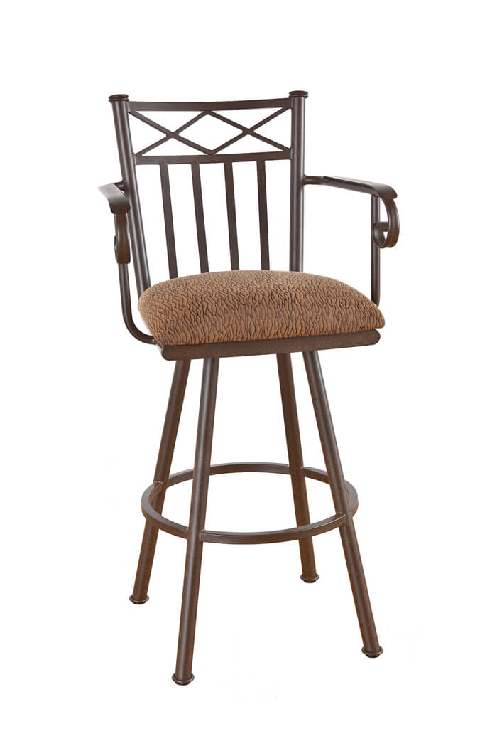 ... Callee Arcadia Swivel Stool with Arms and Tall Back ...  sc 1 st  Barstool Comforts & Callee Arcadia Swivel Bar Stool w/ Tall Back - Free shipping! islam-shia.org