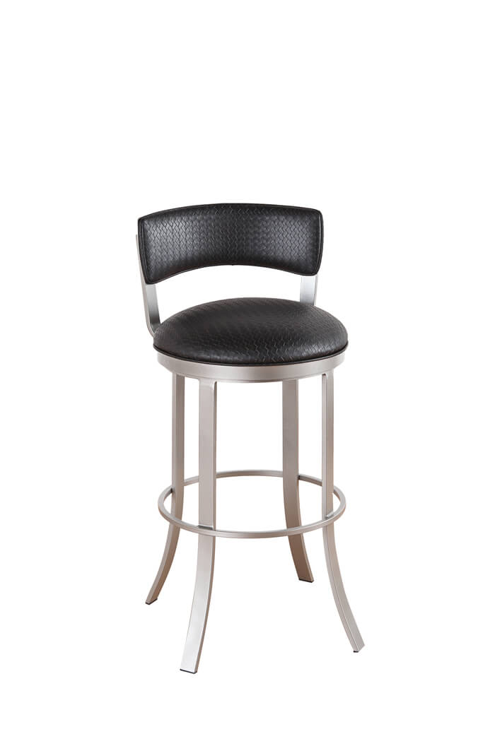 Elegant Padded Bar Stool with Back