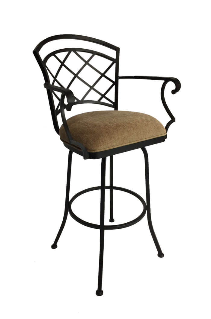 Callee baldwin swivel stool w lattice style back free shipping - Pub stools with arms ...