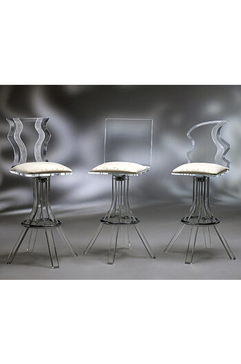 Glacier Clear Modern Acrylic Swivel Bar Counter Stool Free