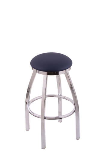 Holland Misha Backless Swivel Stool In Stainless Chrome More