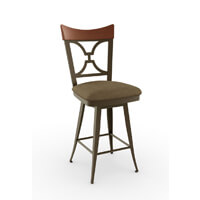 Metal Barstools with Backs