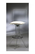 Muniz Plastics Acrylic Bar Stool