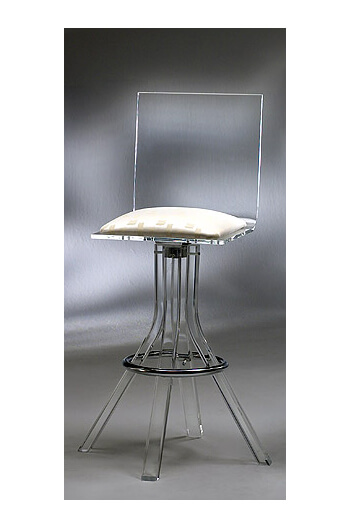 Muniz Plastics Acrylic Bar Stool.