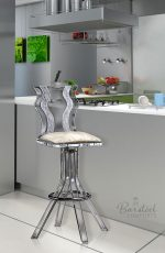 Acrylic Swivel Counter Stool in Modern Kitchen