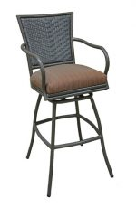 Erin Outdoor Swivel Stool (with arms)