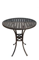 "Ian Outdoor Aluminum Pub Table, 42"" high by Tobias Designs"