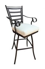 Jenna Outdoor Swivel Stool with Arms by Tobias Designs