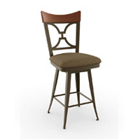 Wood Cap Back Bar Stools